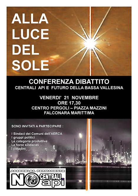Volantino Incontro c/o CENTRO PERGOLI - Venerdì 21 Novembre