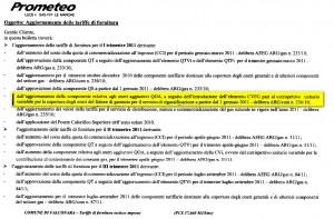 prometeo aggiornamento componente tariffaria pro rigassificatori